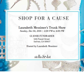 Stella & Dot Fundraising Event – December 4, 2016